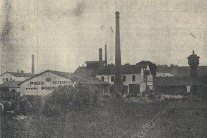 Továreň na výrobu mydla v Košiciach.