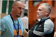 Vľavo odchádzajúci Marek Bozsóky, vpravo staronový tréner MHC Štart Peter Sporni.
