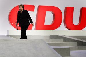 Angela Merkelová na zjazde Kresťanskodemokratickej únie.
