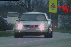 Vodič audi prekročil rýchlosť.