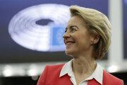 Ursula von der Leyenová na pôde Európskeho parlamentu v Štrasburgu.