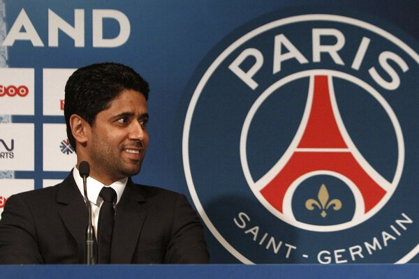 Prezident francúzskeho futbalového klubu Paríž St. Germain Nasser Al-Khelaifi.