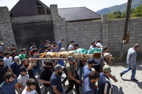 Pohreb zavraždeného Zelimchana Changošviliho.