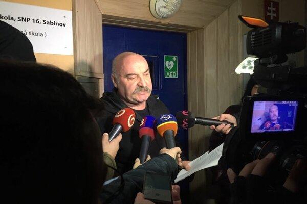 Mikuláš Vareha po podmienečnom prepustení.