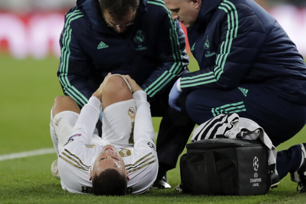 Eden Hazard utrpel zranenie v zápase Ligy majstrov proti PSG 26. novembra.