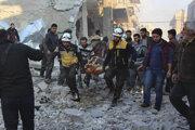 Zásah Bielych heliem po náletoch v provincii Idlib.