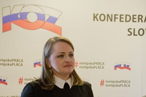 Viceprezidentka KOZ Monika Uhlerová.