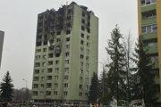 Bytovka na Mukačevskej 7 v Prešove po tragickom výbuchu.