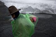 Vysokopoložené jazero v Peru.