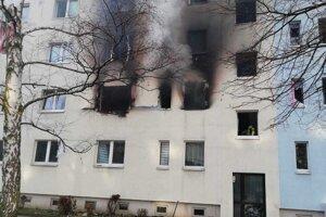 Dom v Blankenburgu po výbuchu. Fotografiu poskytla polícia z Magdeburgu.