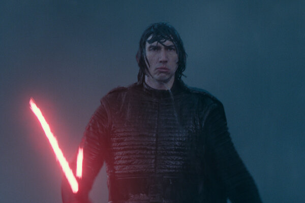 Adam Driver vo filme Star Wars: The Rise of Skywalker.