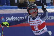 Sofia Goggiaová sa teší z víťazstva v Super G.