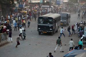 Protesty v Indii.