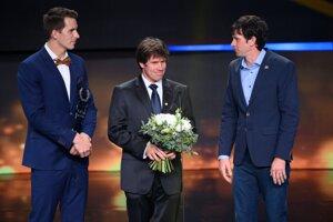 Najúspešnejší kolektív v ankete Športovec roka 2019 - hliadky vodných slalomárov zľava Matej Beňuš, Michal Martikán a Alexander Slovkovský.