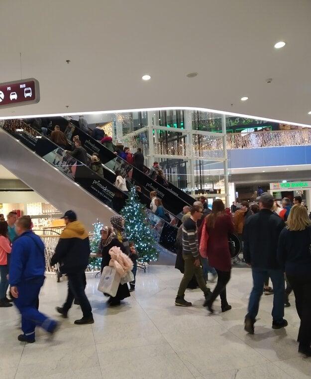 Situácia v Bory Mall.