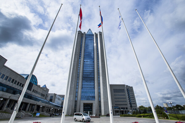 Centrála štátneho plynárenského podniku Gazprom v Moskve.
