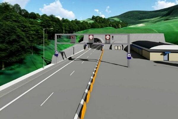 Vizualizácia tunela Soroška.