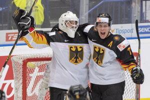 Nemecko počas MS v hokeji do 20 rokov.