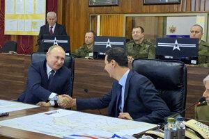 Putin sa stretol s Assadom.