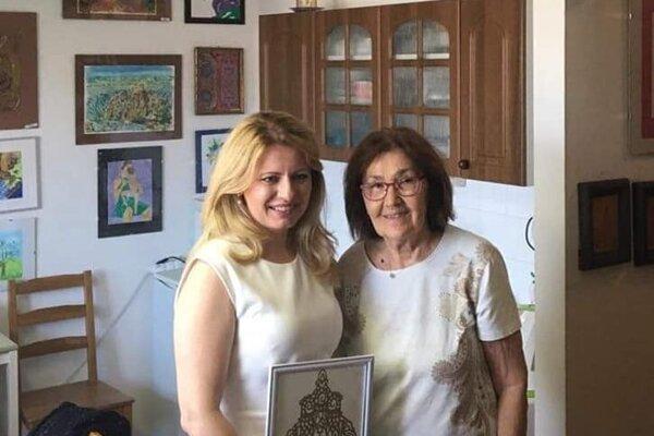 Anna Mandelíková pri stretnutí s prezidentkou Zuzanou Čaputovou