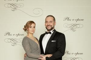 Martin Mňahončák, herec s maželkou Katarínou