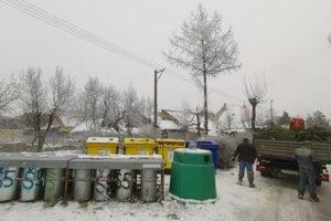 Pracovníci mesta stromčeky zoberú a odvezú do mestskej kompostárne.
