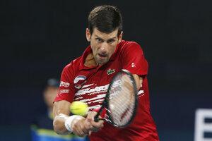 Novak Djokovič na ATP Cupe.