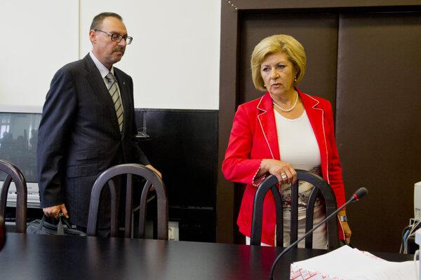 Dobroslav Trnka a Eva Mišíková na snímke z 11. júla 2014.