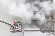 Požiar bytu v bratislavskom Starom Meste.