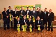 Najlepší hráči z oblastných futbalových trávnikov boli v piatok ocenení ObFZ Žilina.