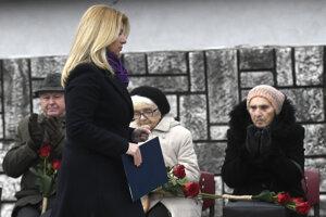 Prezidentka Zuzana Čaputová v Ostrom Grúni.