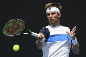 Norbert Gombos v 1. kole Australian Open 2020.