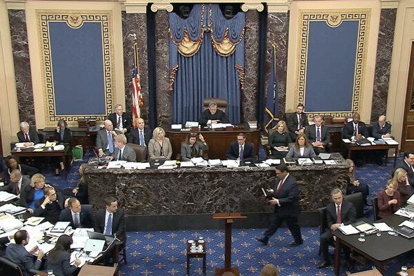 Debata v rámci historického procesu ústavnej žaloby voči prezidentovi USA Donaldovi Trumpovi.