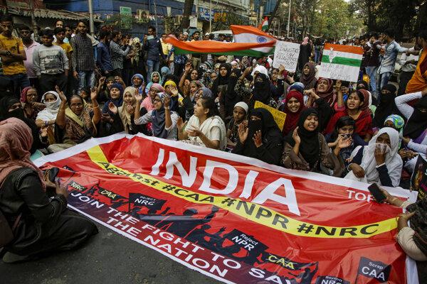 Protest proti zákonu o občianstve v Kalkate.
