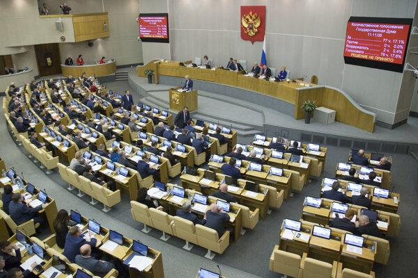 Ruský parlament.