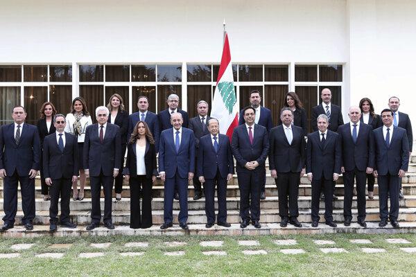 Členovia novej libanonsskej vlády.