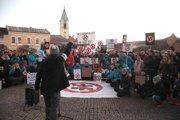 Protest proti extrémizmu a fašizmu v Bytči.