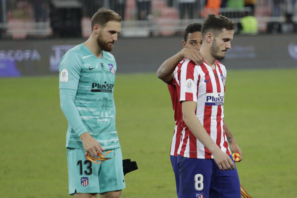 Hráči Atlética Madrid - ilustračná fotografia.