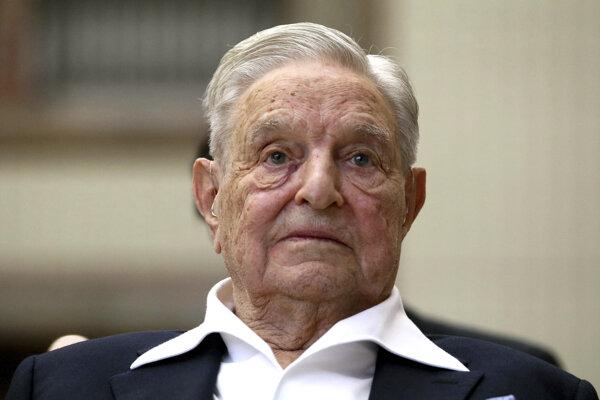 Americký miliardár a filantrop maďarského pôvodu George Soros.