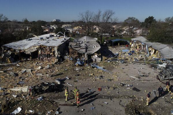 Miesto explózie v Houstone