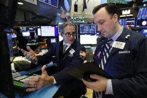 Burza na Wall Street v New Yorku.