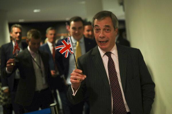 Spokojný Nigel Farage.