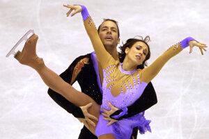 Sarah Abitbolová a Stephane Bernadis na ME v krasokorčuľovaní v Bratislave 2001.