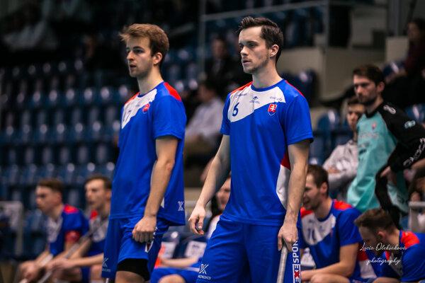 Marek Bulko (vpravo) bol najskúsenejším hráčom Slovenska.