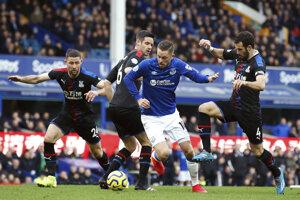Gylfi Sigurdsson z FC Everton v zápase proti Crystal Palace.