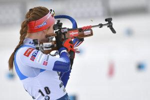 Ivona Fialková na MS v biatlone 2020.