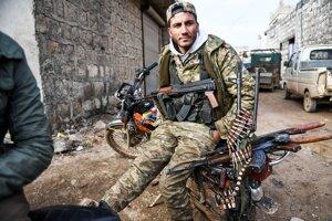 Sýrsky rebel 15. februára 2020.