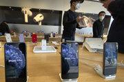 Predajňa Apple v Pekingu.