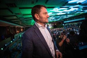 Voľby 2020: Igor Matovič pred príhovorom.