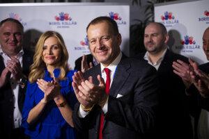 Voľby 2020: Volebný štáb Sme rodina v Bratislave.